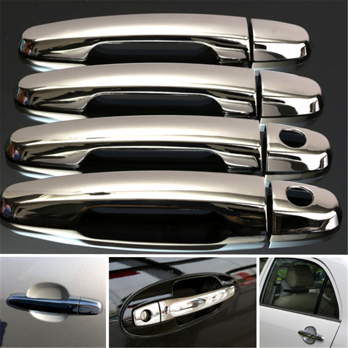 Chrome Door Handle Cover Trim Fit For Toyota Corolla Camry