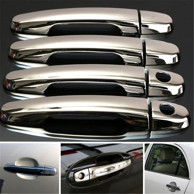 Chrome Door Handle Cover Trim Fit For Toyota Corolla Camry Prius