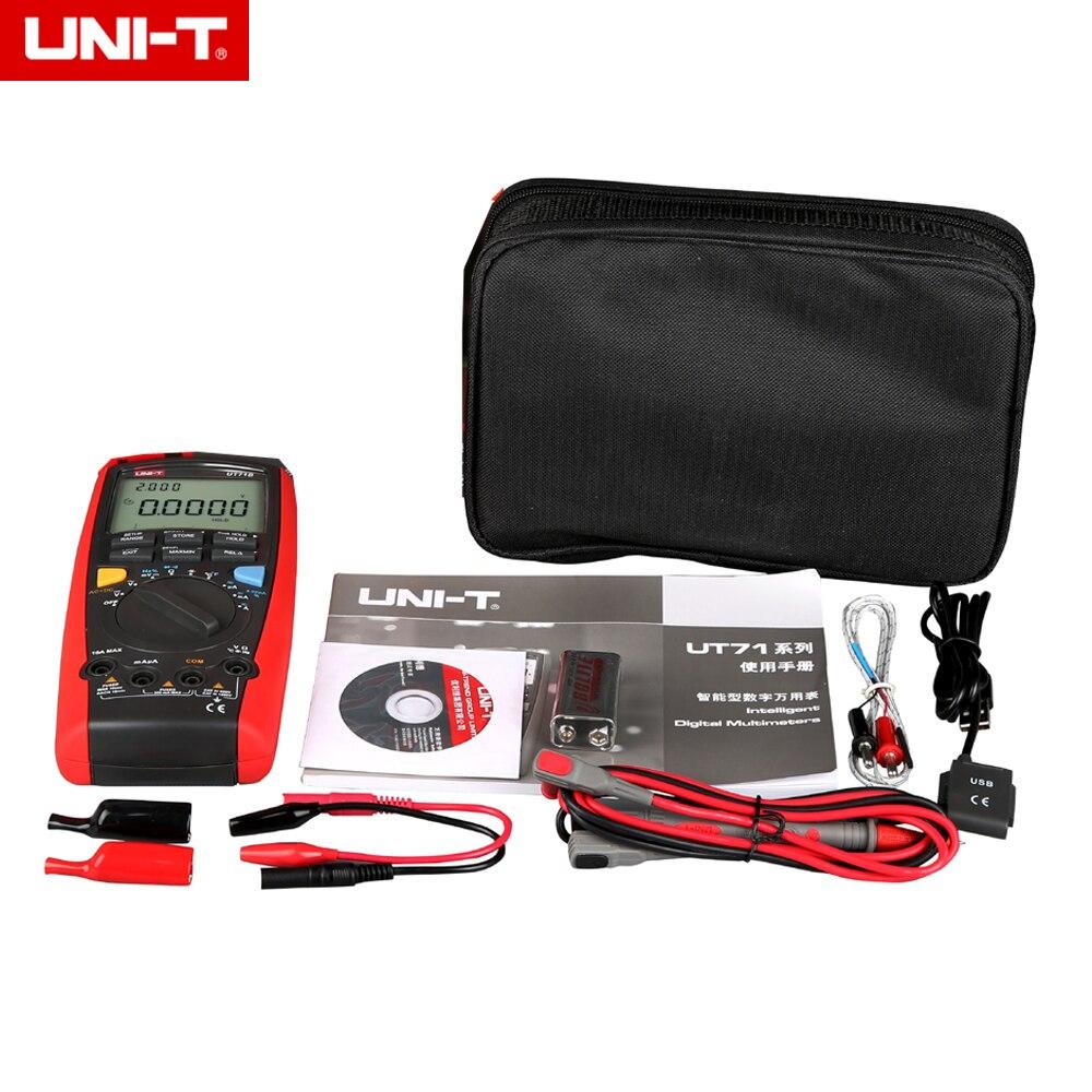 UNI-T UT71A True RMS Intelligent Digital Multimeter high-precision 20000 counts Auto Range  UT-71A 1 pcs mastech ms8269 digital auto ranging multimeter dmm test capacitance frequency worldwide store