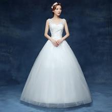 Free Shipping Vestidos De Novia Real Photo V-neck Sleeveless Sequins Bling Wedding Dress Cheap White Princess Bride Gowns HS227