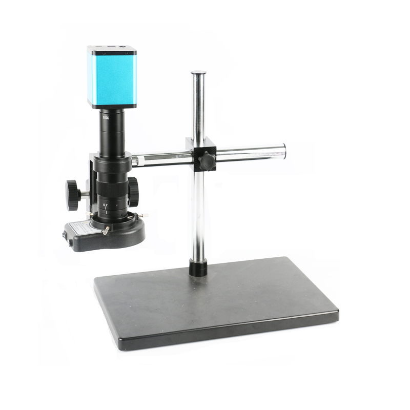 1080P HDMI SONY <font><b>IMX290</b></font> <font><b>USB</b></font> Digital Video Industry Microscope Camera + 180X 300X C-Mount Lens+144 Led ring lights+Big table stand image