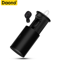 DAONO TWS-18 Bluetooth беспроводная гарнитура наушники мини-вкладыши магнит зарядное устройство коробка металлическая музыка спорт телефон громкой связи HD микрофон