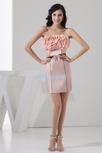 free shipping fashion 2013 elie saab dresses new design hot sale handmade flowers mini custom size/color cheap sexy party dress