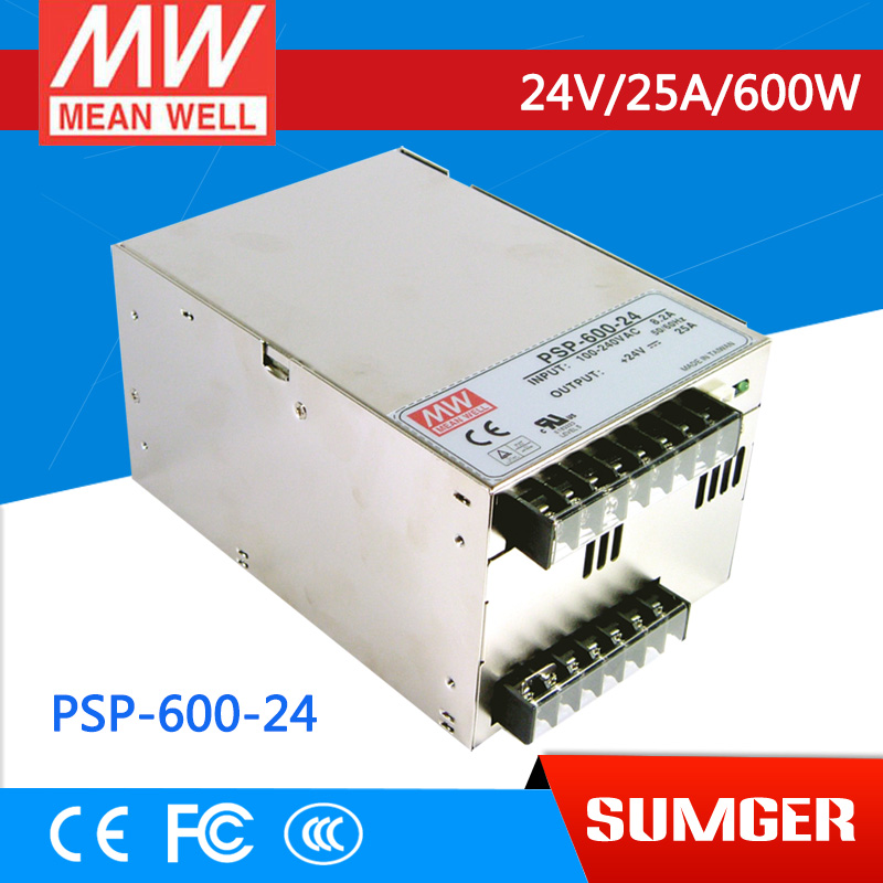 1MEAN WELL original PSP-600-24 24V 25A meanwell PSP-600 24V 600W with PFC and Parallel Function Power Supply 1mean well original psp 600 12 12v 50a meanwell psp 600 12v 600w with pfc and parallel function power supply