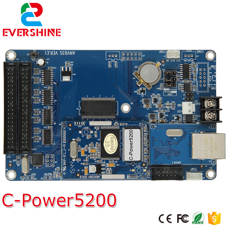 lumen C-power5200 network port version outdoor and indoor  full color LED sign control receiving card 50A bx 6q3 usb and ethernet port lintel full color led control card asynchronous video led sign controller 384 1024 512 768pixels
