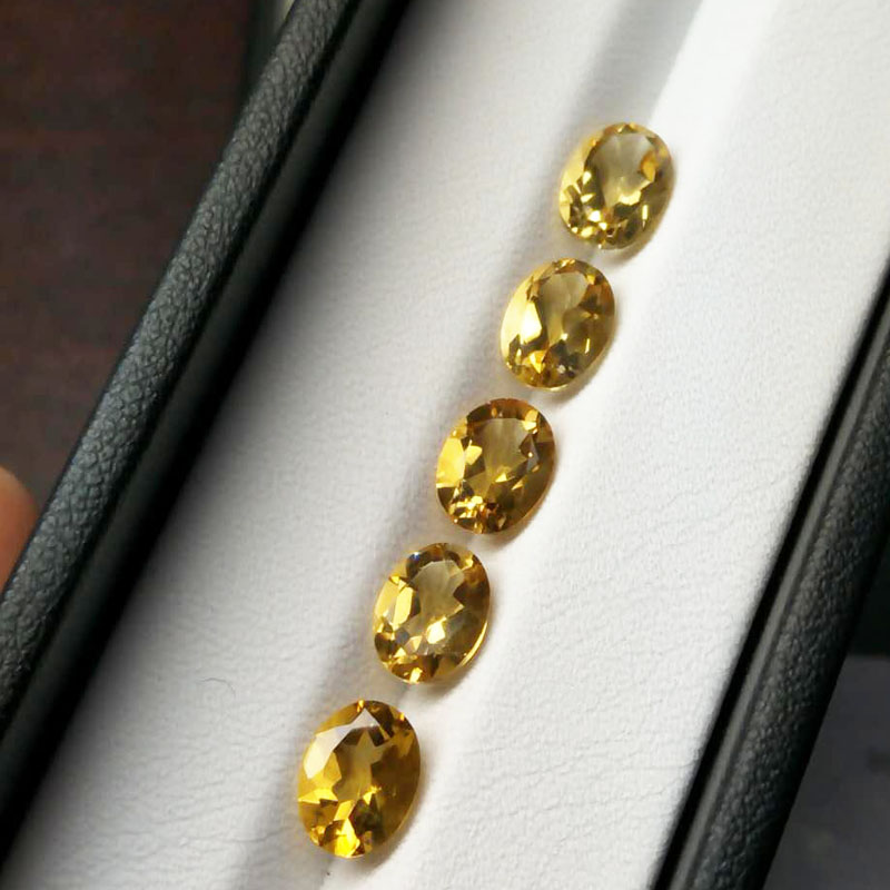 Tbj , natural brazil citrine oval cut6*8 mm approx. 1ct up,citrine loose gemstones for 925silver jewelry,natural loose gemstone