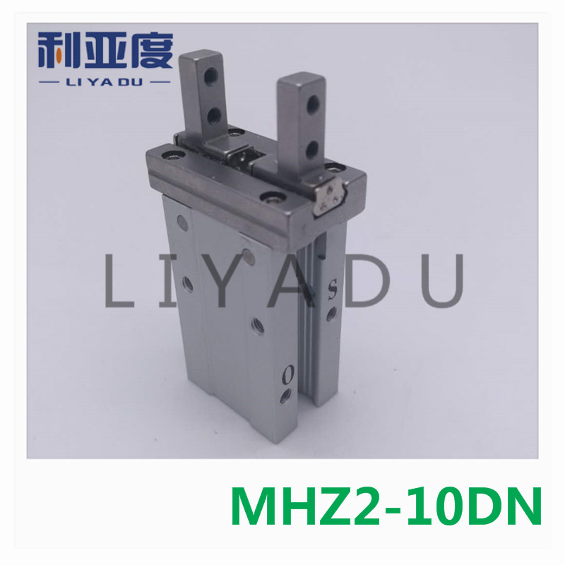 MHZ2-10DN pneumatic finger cylinder parallel open double-acting air claw The installation hole of mhz2-10d is different mhz2 10d parallel style air gripper cylinder double acting sns pneumatic parts finger air claw