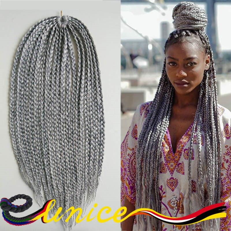 18 Quot Synthetic Crochet Braid Hair 3x Box Braids Hair Human