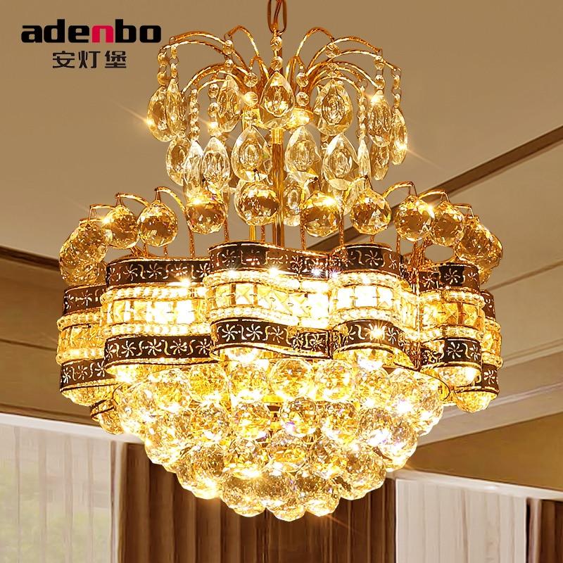 Modern Gold LED Crystal Chandeliers Light 48cm Ceiling Chandelier Fixtures  For Dining Room Bedroom Lighting (