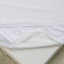 Terry Soft Waterproof Fitted Sheet, Anti-dust mite Anti-bacterial Air-permeable