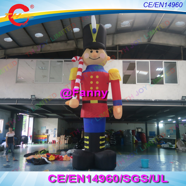 free air ship to door 4m13ft or 6m20ft outdoor giant inflatable nutcracker soldier christmas yard