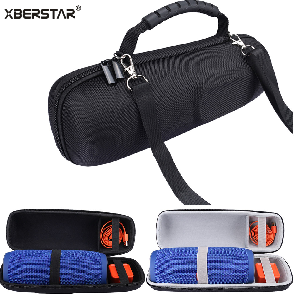 Portable Travel Carry Storage hard Case Bag Holder Zipper Pouch for JBL Charge 3 Wireless Bluetooth Speaker and Charger