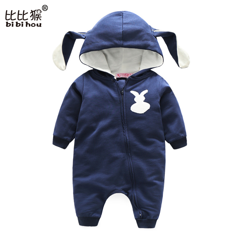 Baby Rompers Bear Infant Bebe Boys Girls Jumpsuits Cartoon Newborn Pajamas Warm Overalls Costumes Spring Baby Sleepers Clothes newborn baby girls rompers cotton padded thick winter clothing set cartoon bear infant climb hooded clothes babies boy jumpsuits