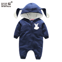 Baby Rompers Bear Infant Bebe Boys Girls Jumpsuits Cartoon Newborn Pajamas Warm Overalls Costumes Spring Baby