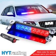 8 LED per Auto Dash Strobe Flash Luci di Blu/Rosso Di Emergenza Della Polizia Flash Luci Spia di avvertimento HA CONDOTTO LA Luce