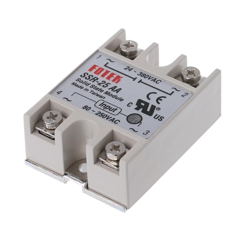 1pcs SSR-40AA 40A Solid State Relay Module 80-250V AC Input 24-380VAC