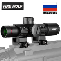 FIRE WOLF 4.5X20E Tactical Hunting scope Red Illumination Mil Dot Riflescope for AK74 AR15
