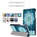 Cubierta elegante de cuero magnética de la pu para huawei mediapad t1 7.0 case pintura delgado tablet case para huawei mediapad t2 7.0 cubierta