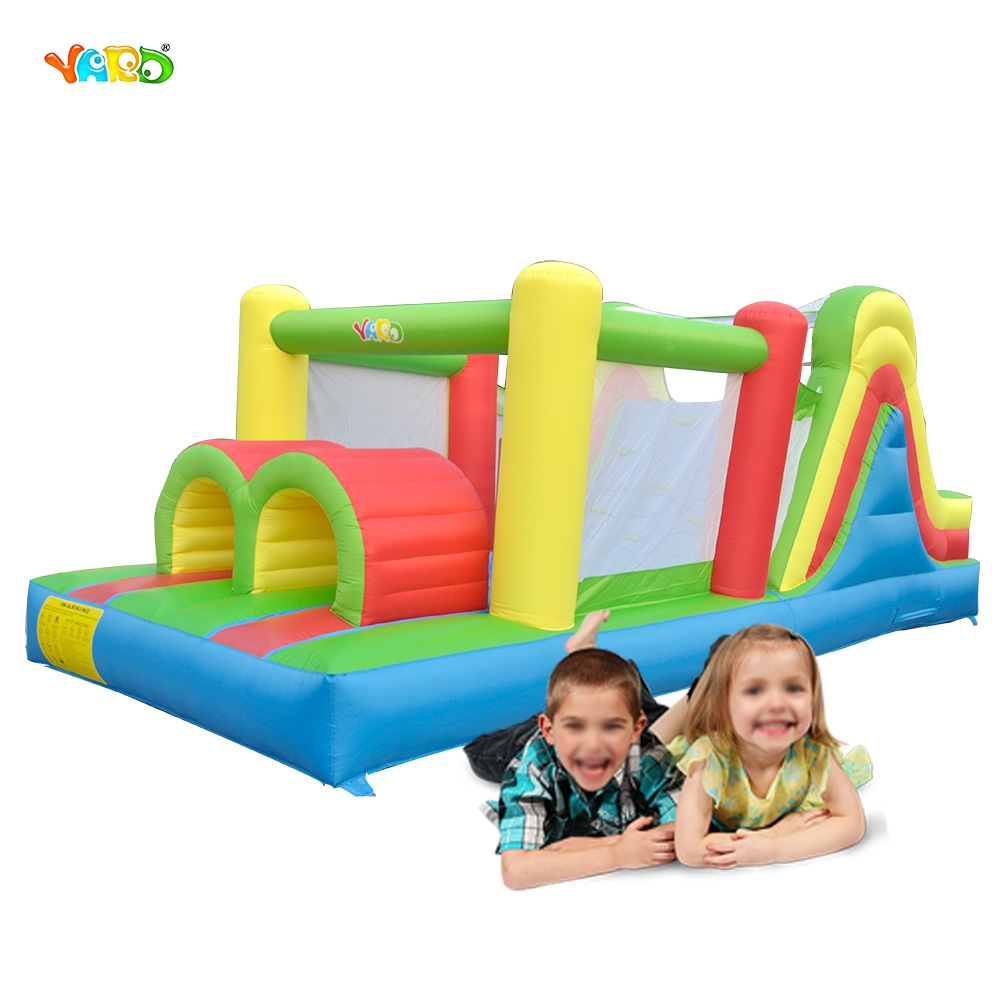YARD 6 in 1 Bouncy Castle Outdoor Trampoline Backyard Inflatable Obstacle Course Bouncer for Kids Play House yard free shipping bouncy dream castle inflatable jumper bouncer 6 in 1 all round obstacle combo for home use