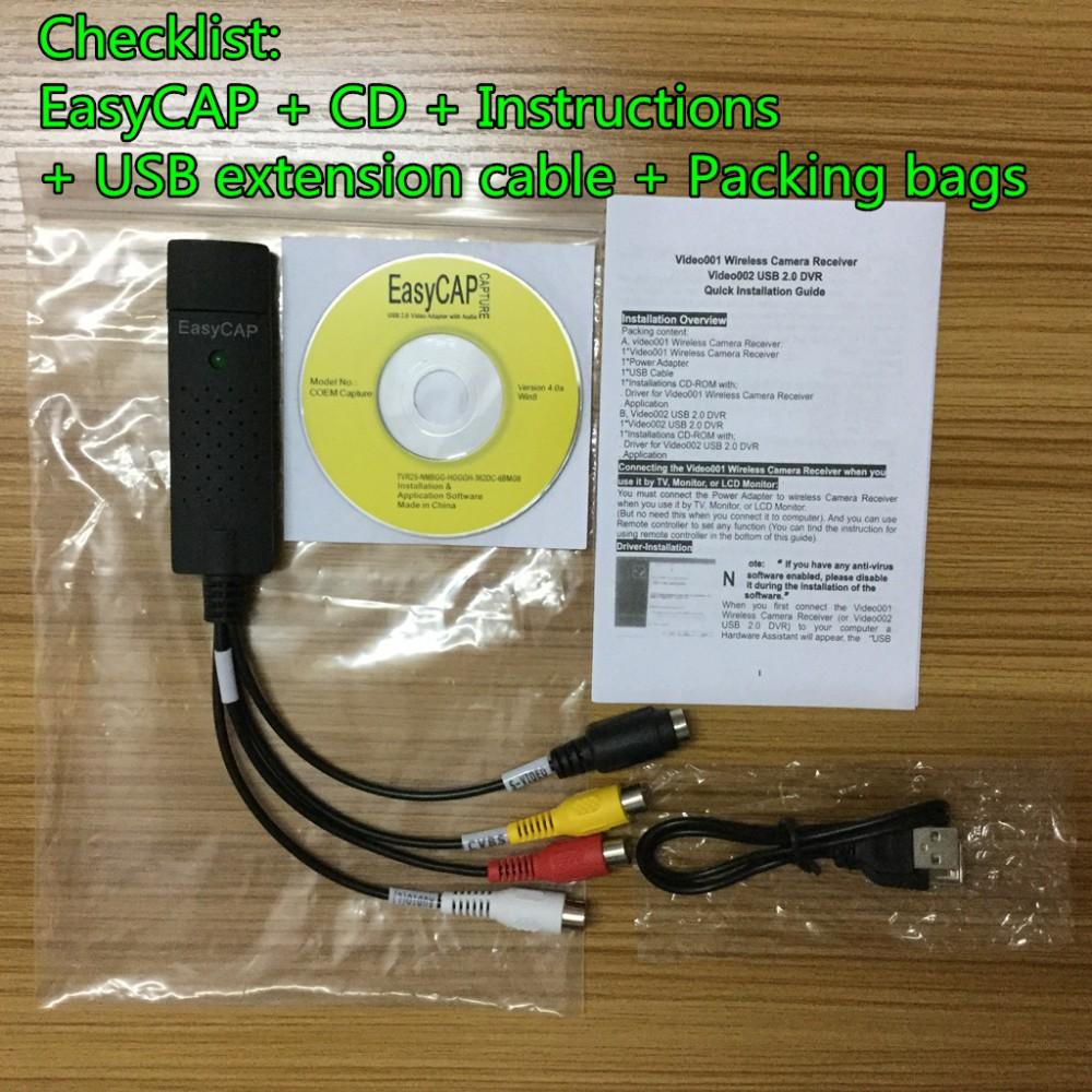 EasyCAP checklist