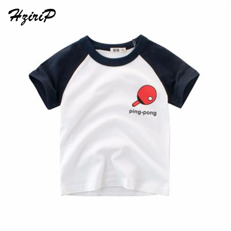 HziriP 2018 Summer Tops Kids Boy Printed Tops O-neck Short Sleeve Cotton T Shirt Casual  ...