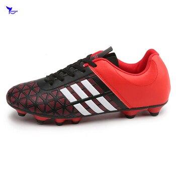 76b48a94 35-43 мужские и женские уличные лужайки длинные шипы футбольная обувь для  подростков FG футбол AG бутсы Futsal сапоги студенческие спортивные трен.
