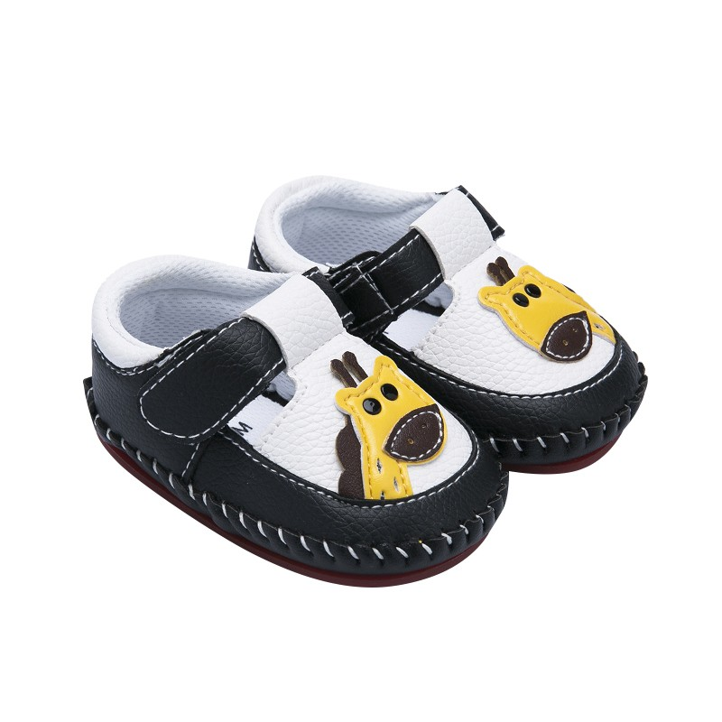 Newborn Baby Boys First Walkers Shoes Fawn Printed Toddler Anti-Slip Soft Baby Pu Soft Shoes 0-12M
