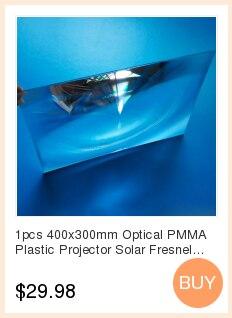 1 pces 400x300mm projetor plástico pmma óptica
