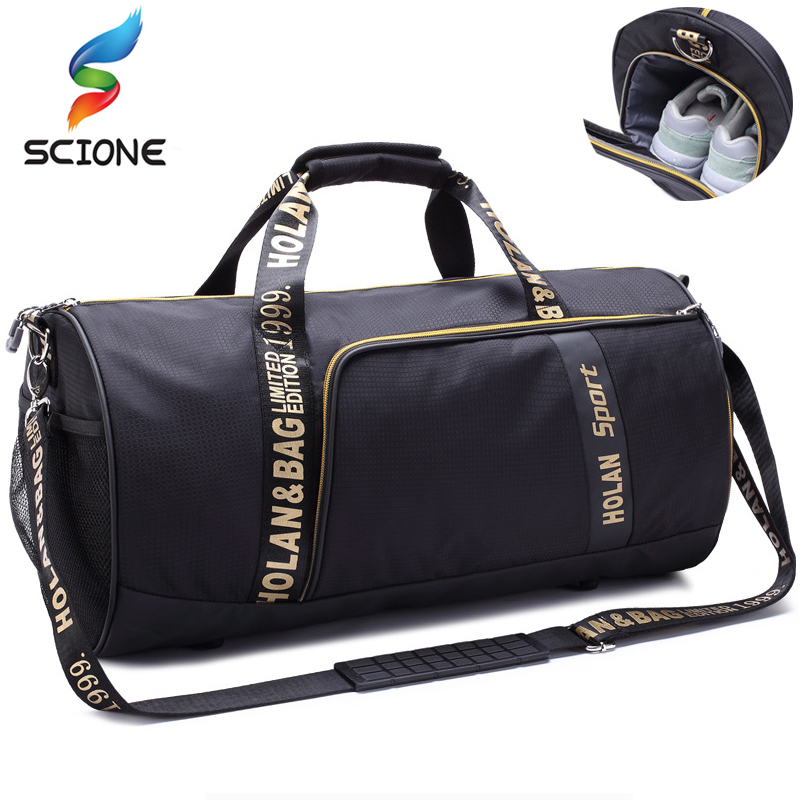 2018 Hot Outdoor Sports Gym Bag Waterproof Large Training Fitness Bag Men Women Basketball Multifunctional Travel Yoga Handbag hot professional top nylon waterproof sports gym bag women men for gym fitness training shoulder travel handbag yoga bag luggage