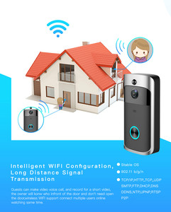 Image 4 - Video Door Bell WIFI HD Waterproof 720P Doorbell Camera +2pcs Dingdong For IOS Night Vision Timbre Con Camara
