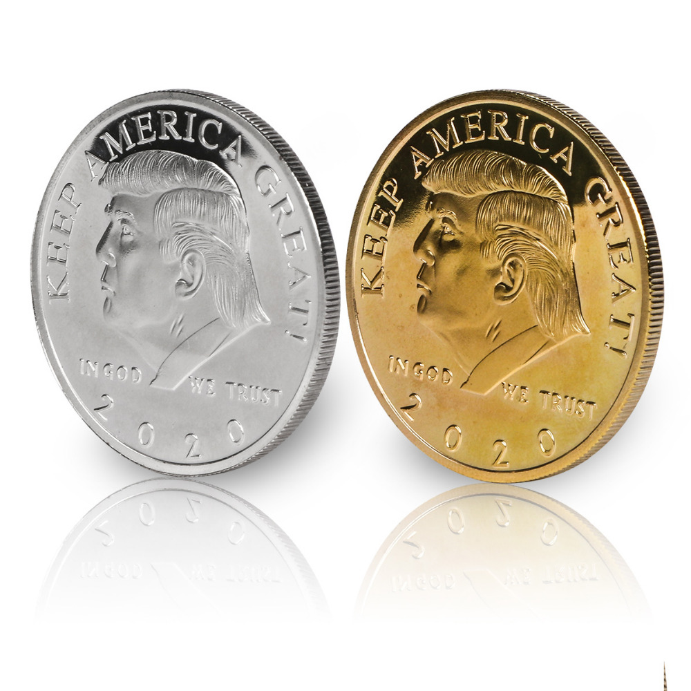 Donald Trump Silver and Gold Coins Commander In Chief Keep America Great 2020