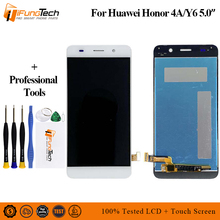 цены LCD Display for Huawei Y6 SCL-L01 SCL-L21 SCL-L04 touch screen for Honor 4A Digitizer Assembly Frame with Free Shipping