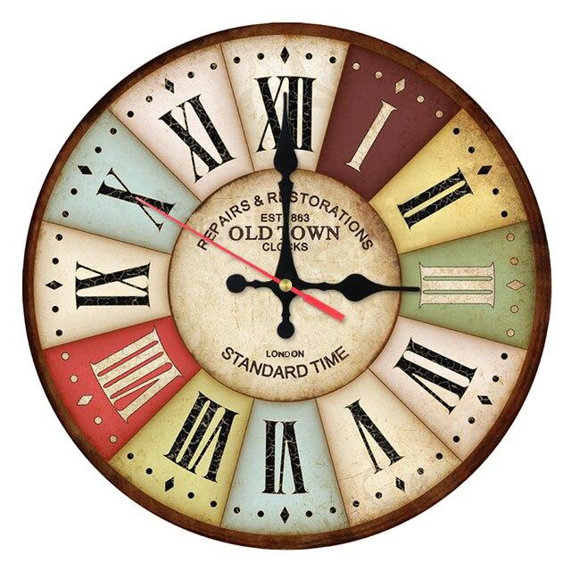 2017 Neue Promotion Wanduhr Holz Uhren Quarzuhr Einseitig Stillleben  Wandaufkleber Moderne Heiße Art Dekoration