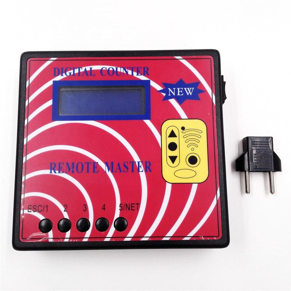 Prix pour Compteur numérique Fréquence Testeur, Fixe/Roulement Auto À Distance Copieur/Maître, Régénérer RF Télécommande, Clé programmeur + Adaptateur