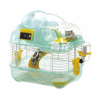 Pedometer Hamster Cage Toys Running Counter Luxury Villa Ferret Guinea Pig Bed Rat Chinchillas Hedgehog Cage Hamster Accessories