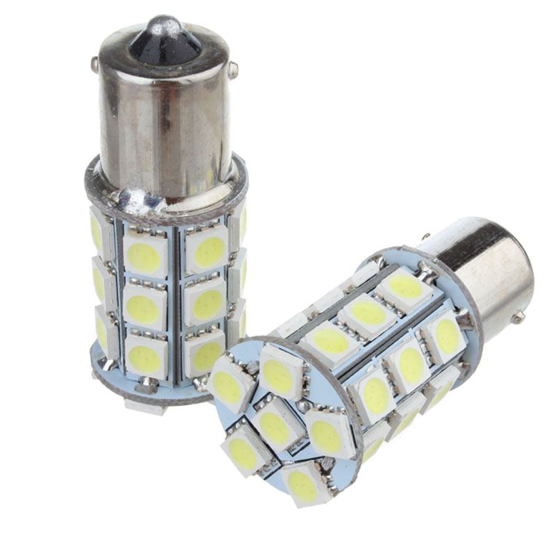2x 1156 BA15S <font><b>P21W</b></font> 27 SMD 5050 LED Car Auto Brake Parking Stop Tail signal 12V Lamp light bulb White <font><b>Red</b></font> Yellow image