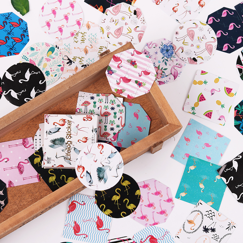 90PCS/2boxes Cartoon Animal Bird DIY Scrapbook Paper Lable Stickers Crafts and Scrapbooking Cute Decorative Stationery Sticker ywtj cute simple cartoon spirit style cylinder paper towels holder blue orange 2 pcs