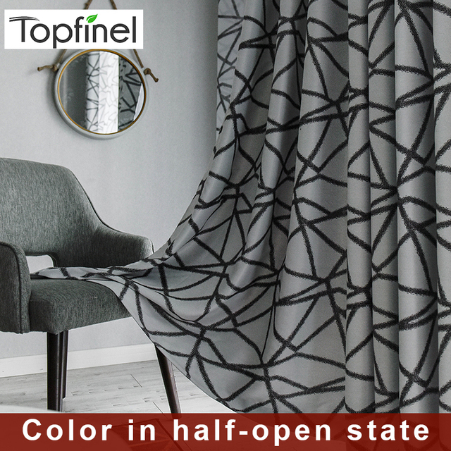 Topfinel Irregular Stripes Thermal Blackout Curtains for bedroom Window Treatment Black Curtains For Living Room Decorative