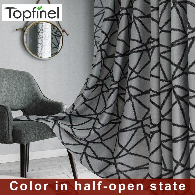 >Topfinel Irregular Stripes Thermal Blackout Curtains for bedroom Window Treatment Black Curtains For Living <font><b>Room</b></font> <font><b>Decorative</b></font>