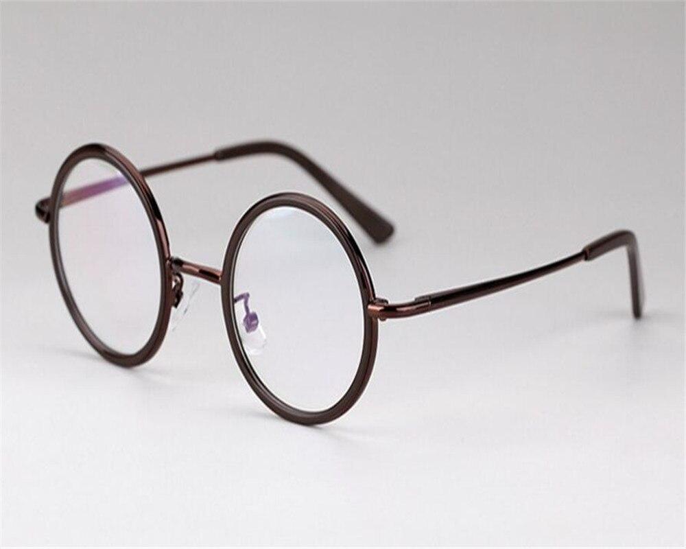Workmanship In Round Frame Unisex Fashion Alloy Full Rim Silver Leopard Prescription Aspherical Lens Goggle Optical Reading Eyeglasses Zjh8029 Exquisite