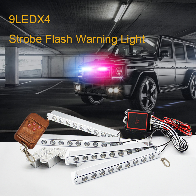 car-styling led Ambulance Police light Car Truck Emergency Light Flashing Firemen Lights DC 12V Strobe Warning light цена и фото