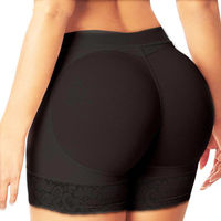 Body Shaper Sexy Boyshort Panties Woman Fake Ass Underwear Push Up Padded Panties Buttock Shaper Butt