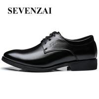 男靴高級ブランド2017高品質履物隠しヒール光フラッツレザー黒ドレスモカシン安いに滑る靴