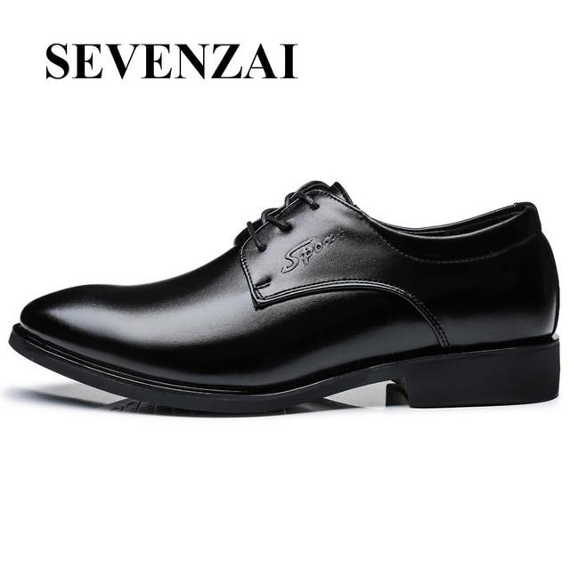 f51fbf191fe Homme chaussures de luxe marque 2017 haute qualité chaussures caché talon  lumière appartements en cuir noir