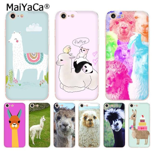 new style 02569 258b1 US $1.32 49% OFF|MaiYaCa Cute Llama Alpaca animal lovely soft tpu phone  case cover for Apple iPhone 8 7 6 6S Plus X 5 5S SE 5C 4 4S Cases-in ...