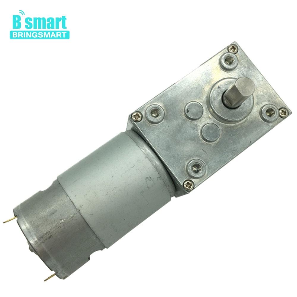 цена на Bringsmart A58SW-555 Worm Gear Motor24V electric Motor DC 12V High Torque 5-70kg.cm Self-lock Mini Reducer Gearbox for DIY Robot