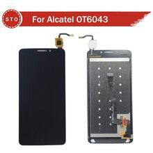 Para alcatel one touch idol x + ot6043 6043 6043d pantalla lcd con pantalla táctil digitalizador asamblea envío gratis