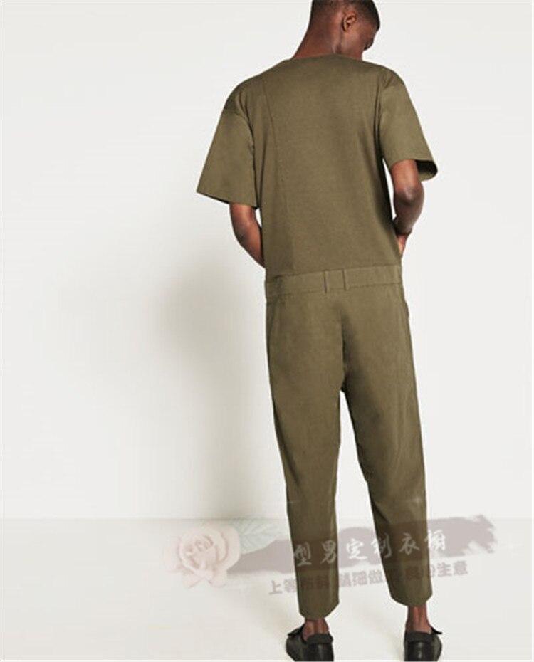 Pantalon De Été Noir Manches Printemps Salopette Mode Occasionnel 2018 Costumes Hommes 5xl Courtes À Vêtements Chanteur Lâche Mince S xvqPHwv