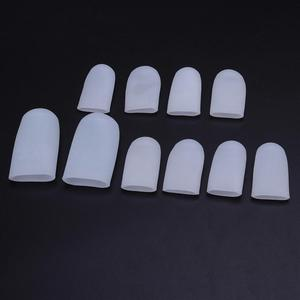 Image 3 - 5 Pairs Silicone Toe Sleeve Gel Toe Cap Cover Protector for Corn Blisters Pain Relief Finger Gel Tube Bunion Massager Insoles