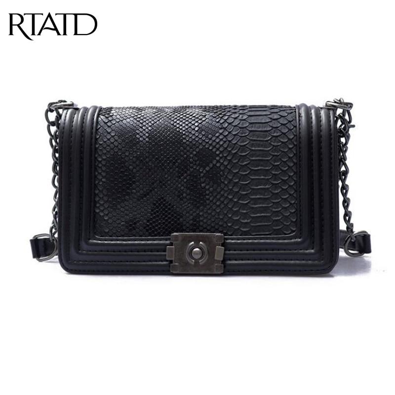 RTATD New Brand Fashion Woman Crossbody Bag Promotional Ladies Totes luxury PU Leather Chain Shoulder Bag Plaid Women Bag B061